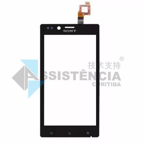 Tela Touch Sony Xperia J St26 St26I St26A Original Preto
