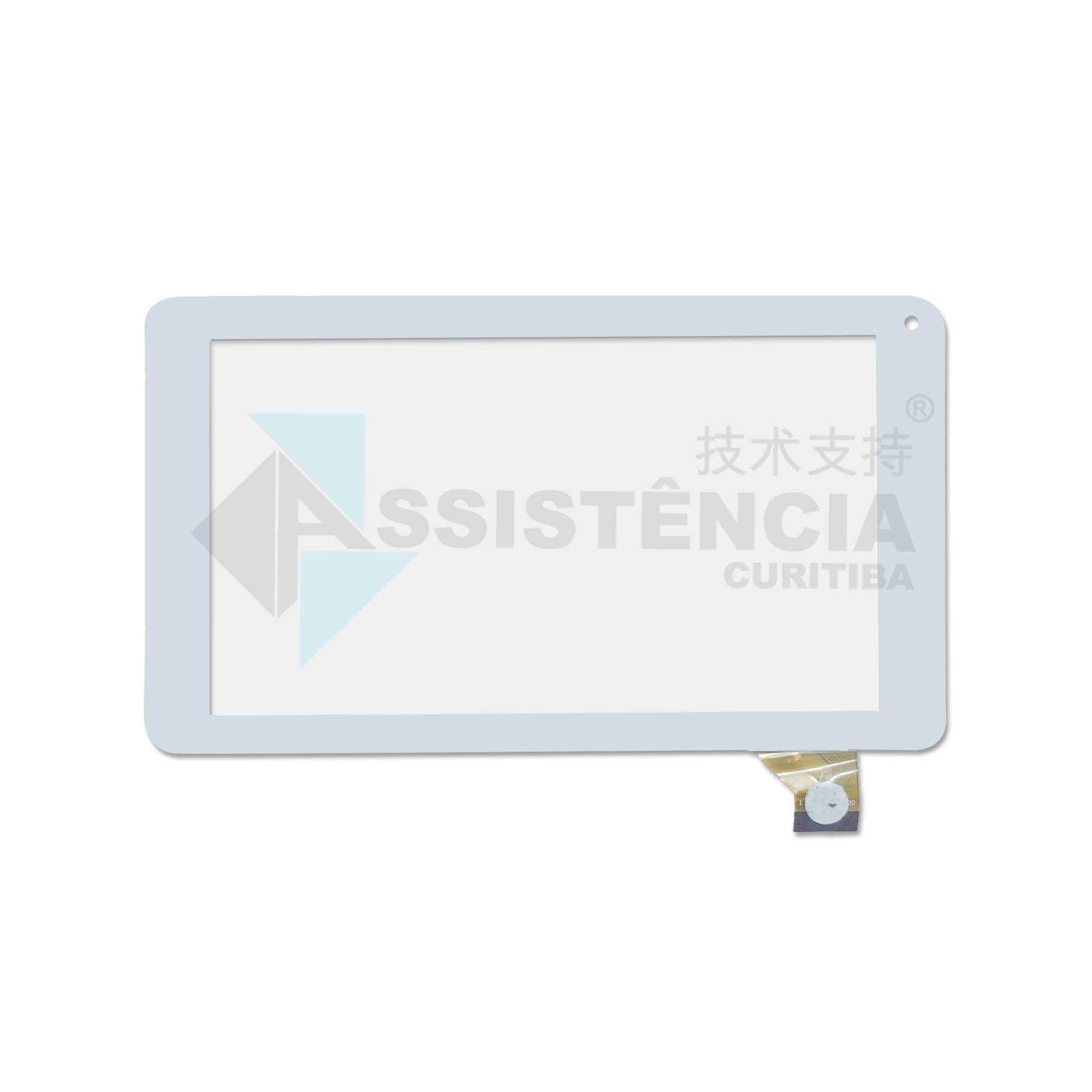 Tela Touch Hyundai Hy-E702 Branco