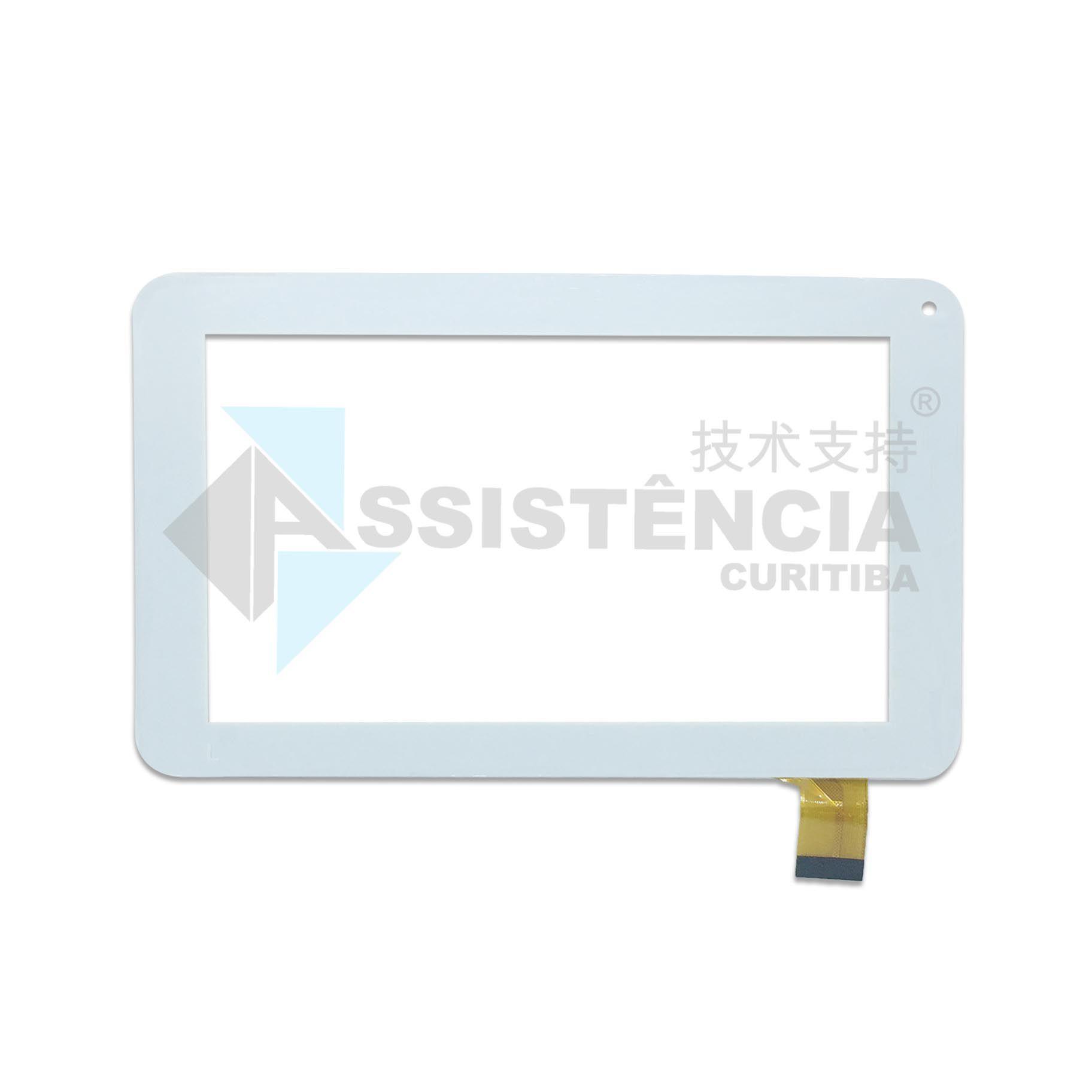 Tela Touch Dl E-Color Tp251 7 Polegadas Branco