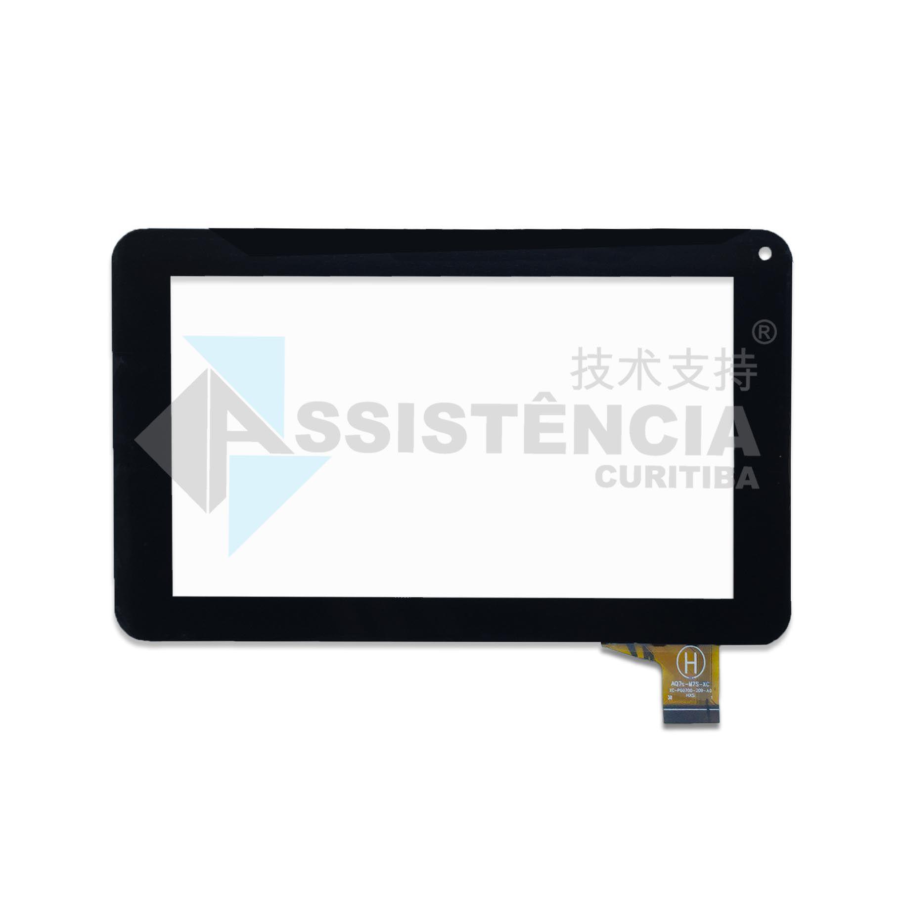 Tela Touch Dl E-Color Tp251 7 Polegadas Preto