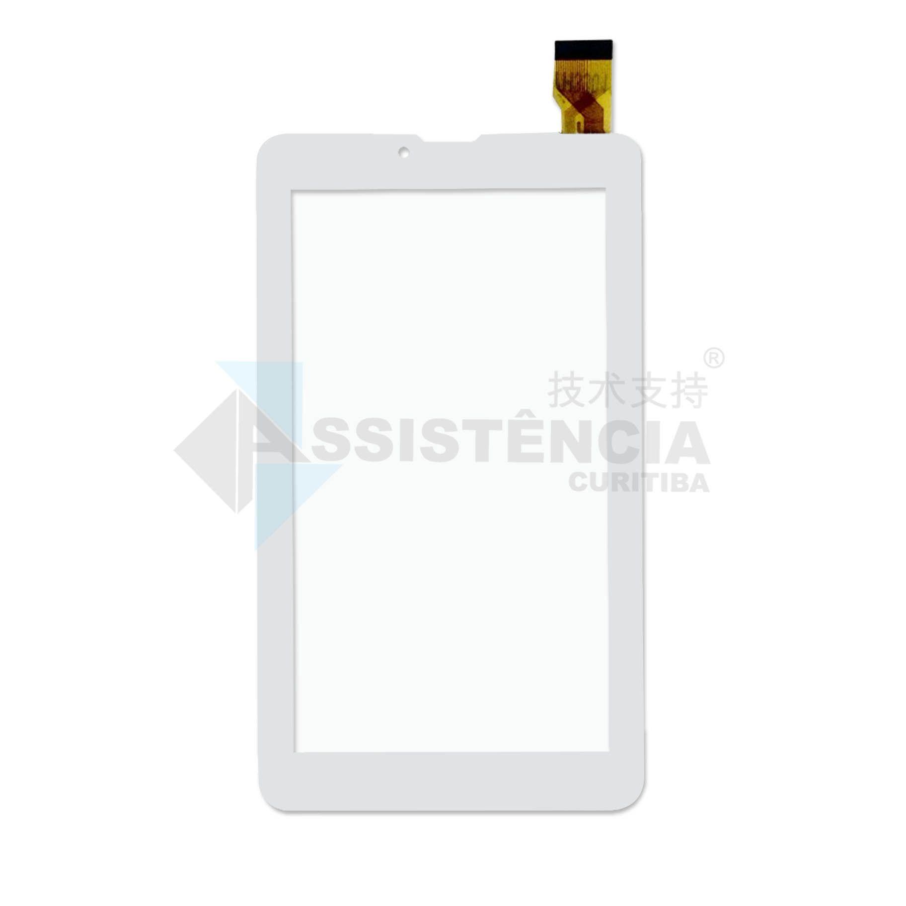 Tela Touch Dl TecPhone 600 TX319 LCD130 Branco