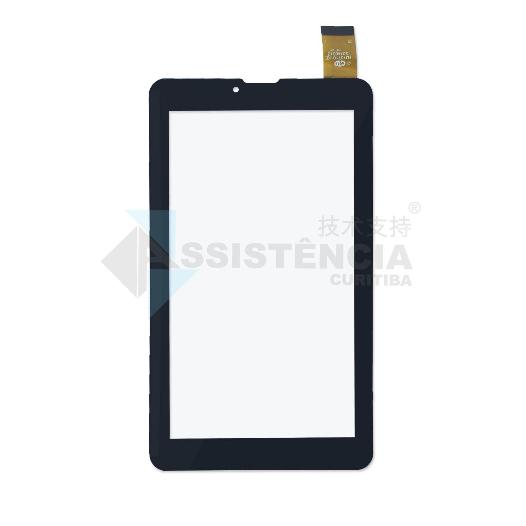 Tela Touch Dl TecPhone 610 TX320 LCD129 Preto