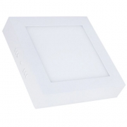 Luminária Quadrado Sobrepor Led 12w Branco - Demi