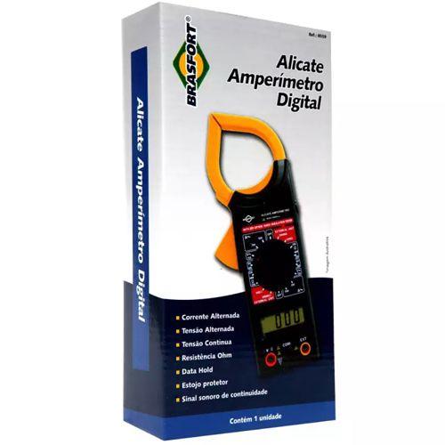 Alicate Multímetro Amperímetro Digital - Brasfort
