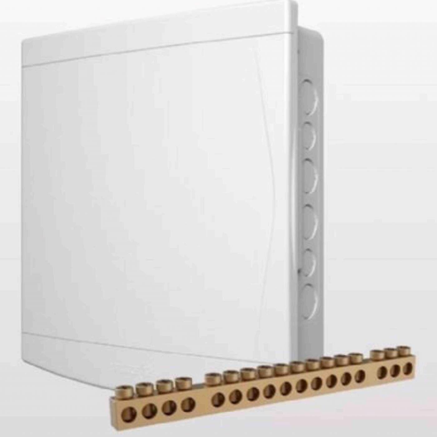 Caixa 24 Disjuntores Din ou 18 Nema de Embutir PVC Com Barramento - Tigre