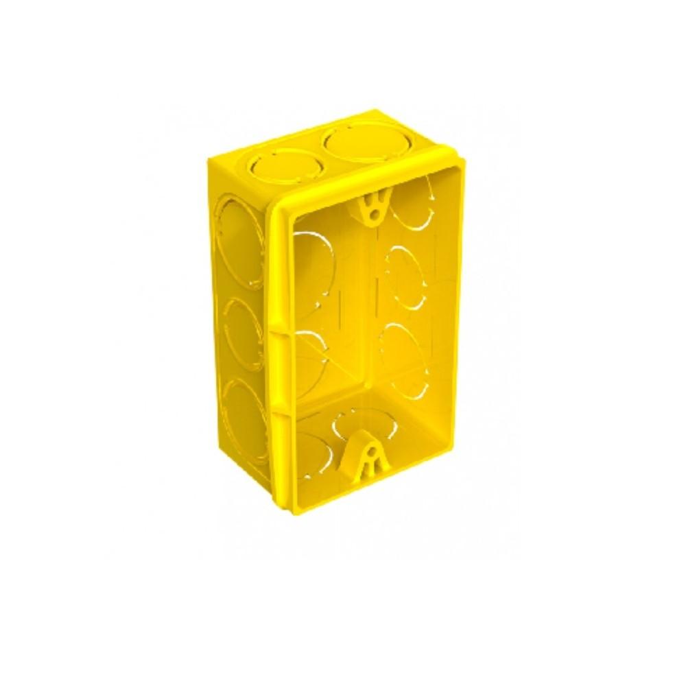 Caixa Luz 4x2 Amarela - Amanco/Tigre