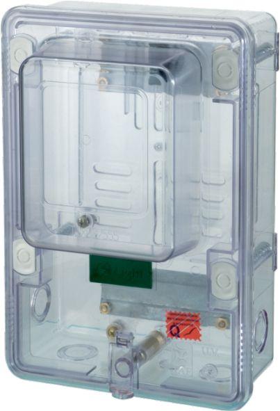 Caixa Trifásica Acrílico Transparente - Plastimax