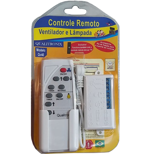Controle Remoto Para Ventilador de Teto - Qualitronix