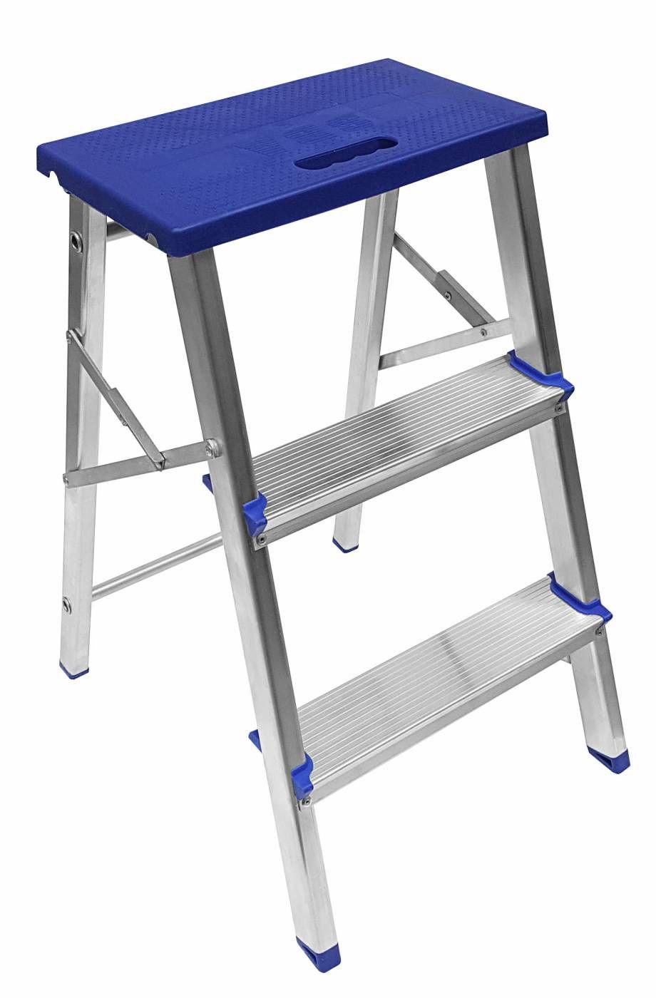 Escada Alumínio 3 Degraus com Banco - SBA