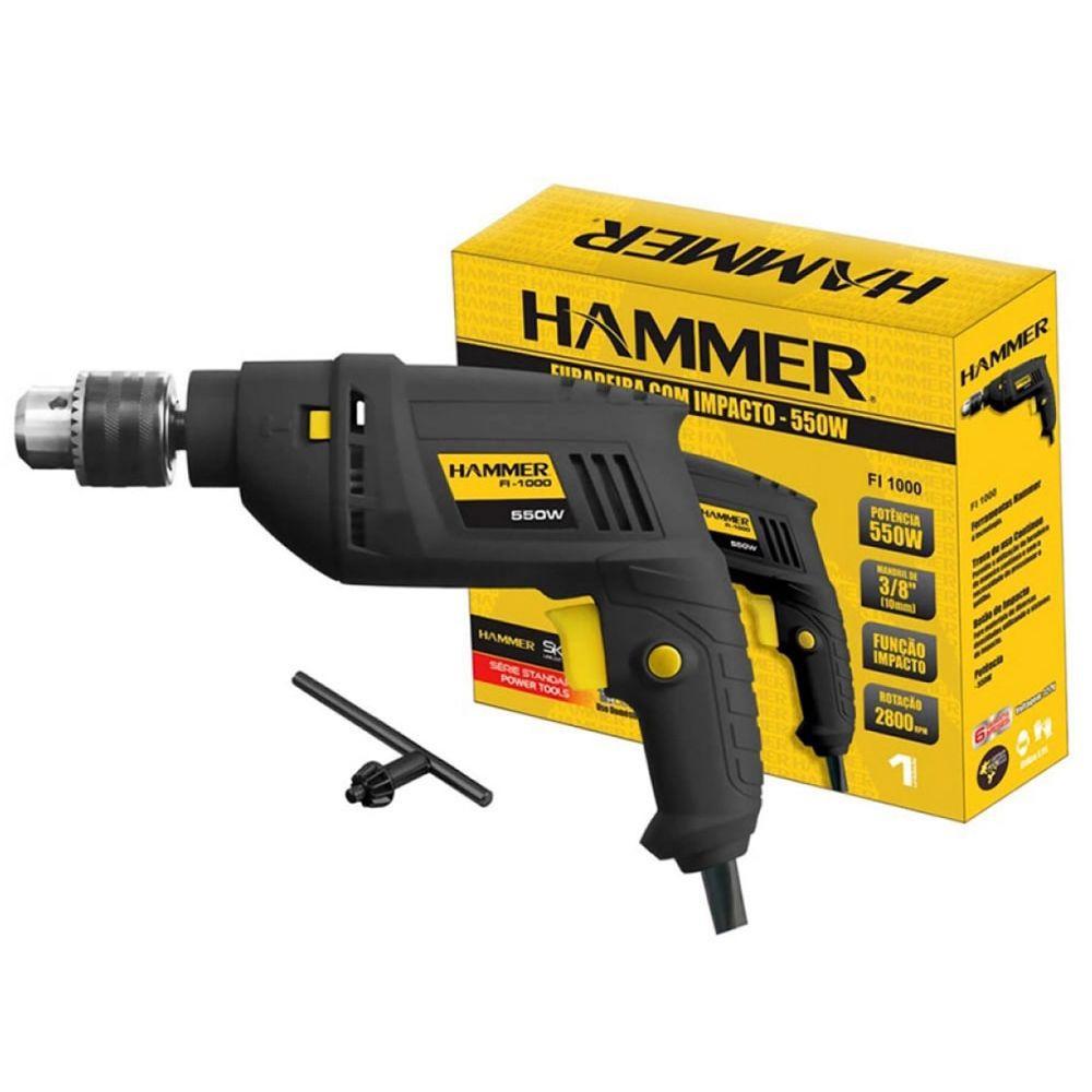 Furadeira Impacto 3/8 550w 127v - Hammer