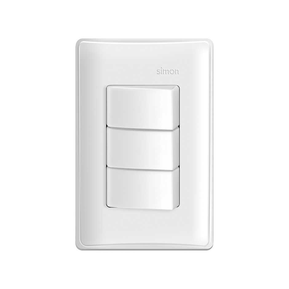 Interruptor 3 seções S19 Branco - Simon