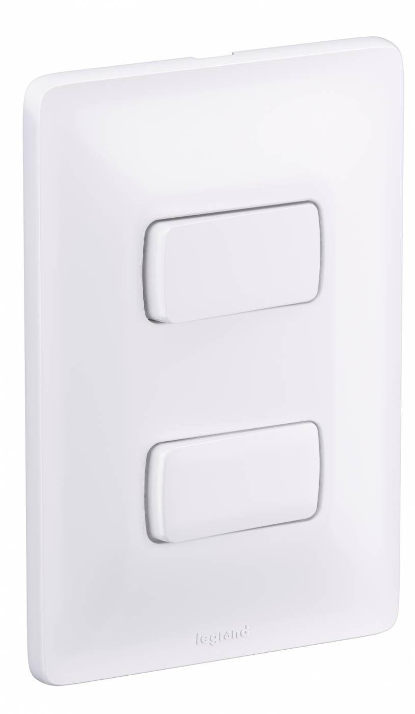 Interruptor Pial 2 seções Branco Linha Zeffia - Legrand