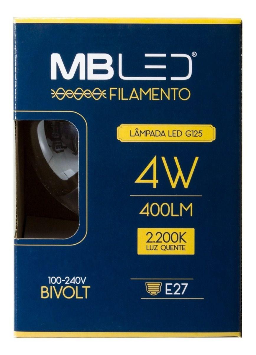 Lâmpada Decor Filamento 4w G125 - Mbled