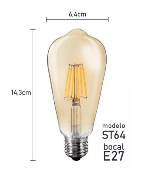 Lâmpada Decor Filamento 4w St64 - Mbled