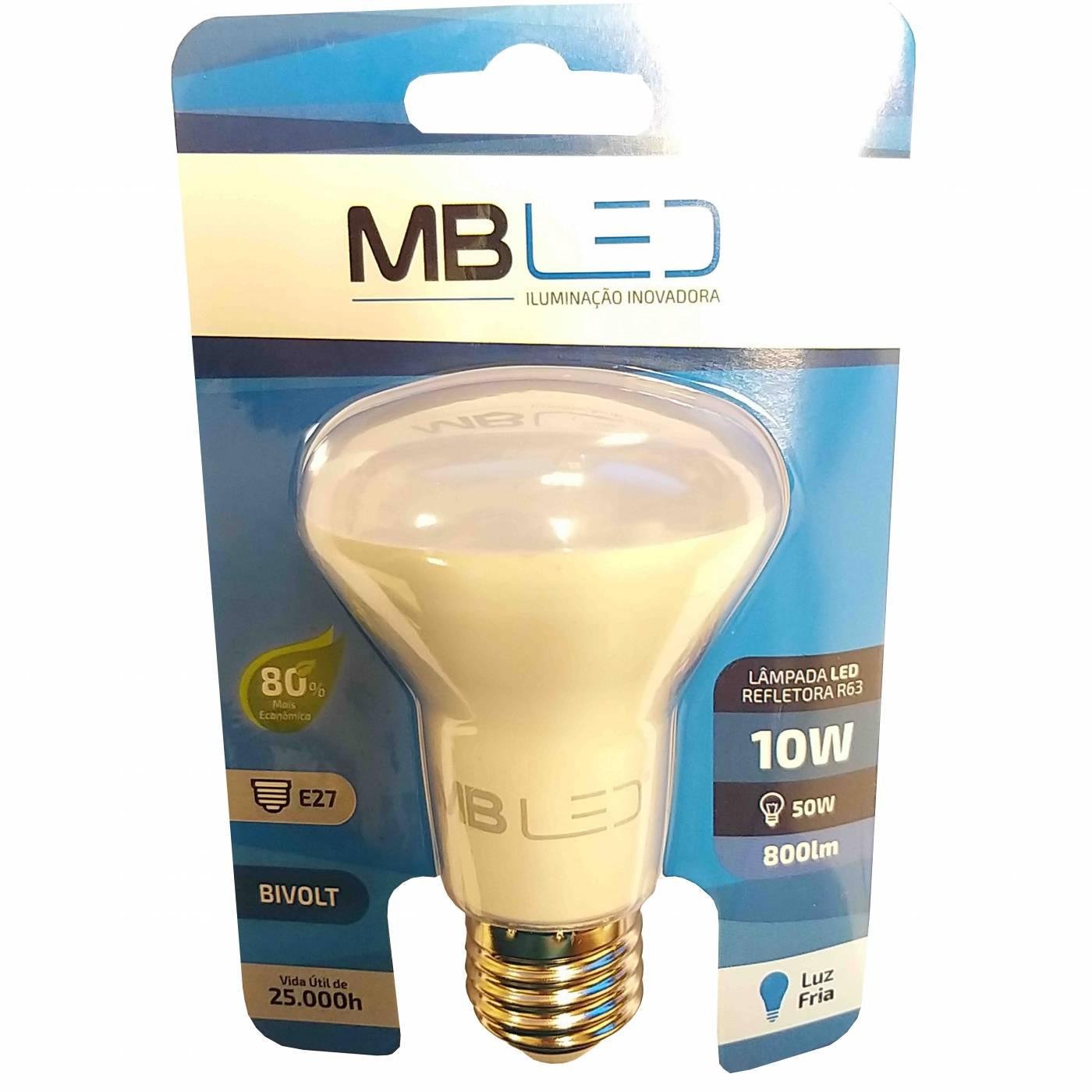 Lâmpada Refletora Led Branca 10w - Mbled