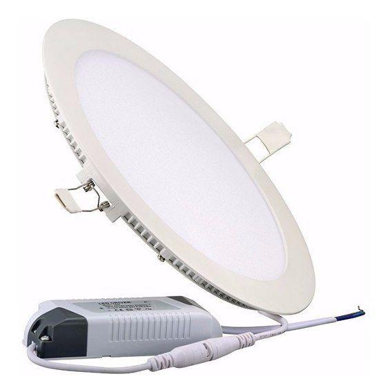 Luminária Redondo de Embutir Led 24W/6500K Branco - Demi