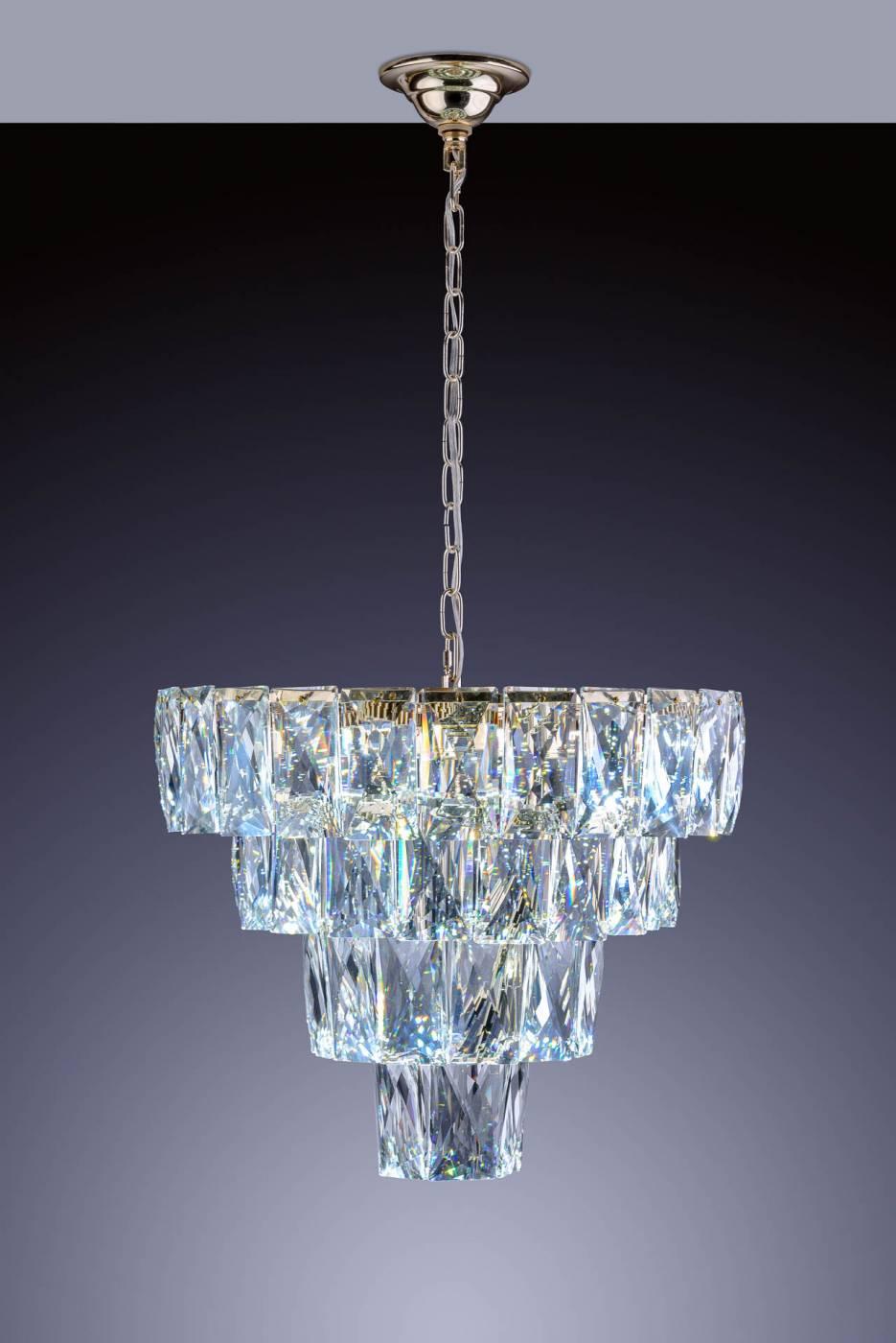 Lustre Cristal Fasano Dourado - Startec