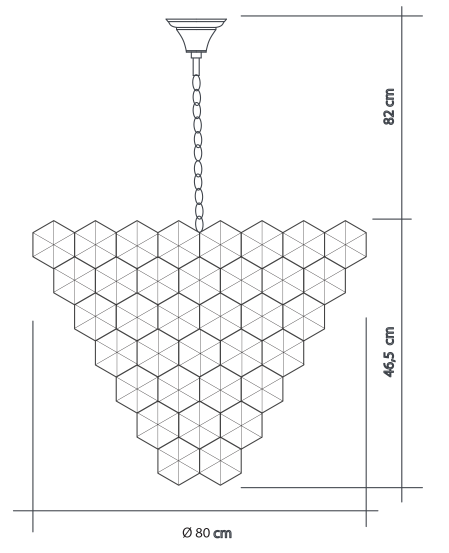 Lustre Cristalle 80cm - Startec