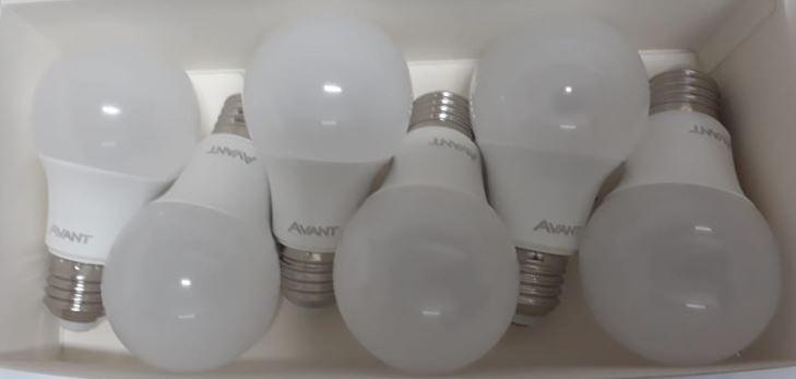 Pack com 6 Lâmpadas de Led 9w 6500k Bulbo Tipo Pera - Avant