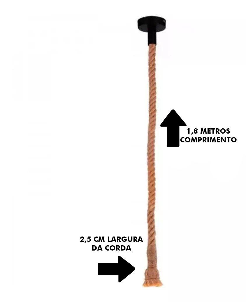 Pendente Corda 1 Lamp 1,80m D11027/Ld5000 - Mbled