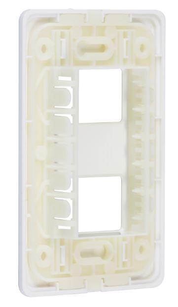 Placa S19 4x2 2 Postos Separados - Simon