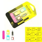 Adaptador Chip Nano Sim Micro Sim 3x1 Com Clip