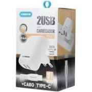 KIT CARREGADOR 2 USB KT627