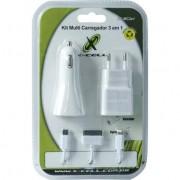 Kit Carregador 3 em 1 Micro USB/Lightning/Doc XC-MC3X1 Branco X-CELL. - Xcell