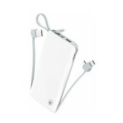 Power Bank Slim com cabo removível 12800mAh