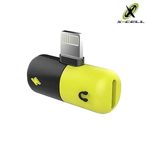 ADAPTADOR CABO DIVISOR LIGHTNING PARA FONE DE OUVIDO E CARREGADOR IPHONE X-CELL