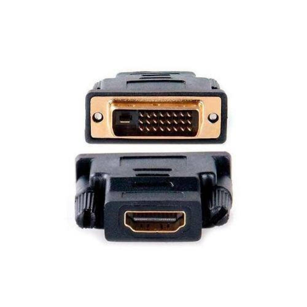 ADAPTADOR/CONECTOR DVI-MACHO X HDMI-FEMEA