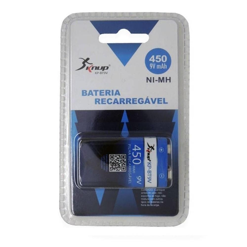 Bateria 9v Recarregável 450 Mah Blister - KP-BT9V