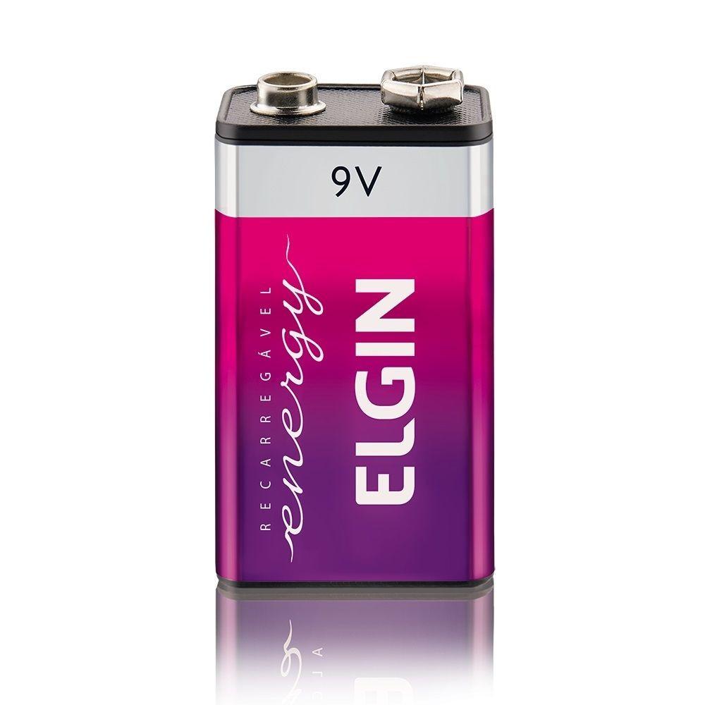 Bateria Recarregável 9v 250 Mah Blister C/1 - Elgin