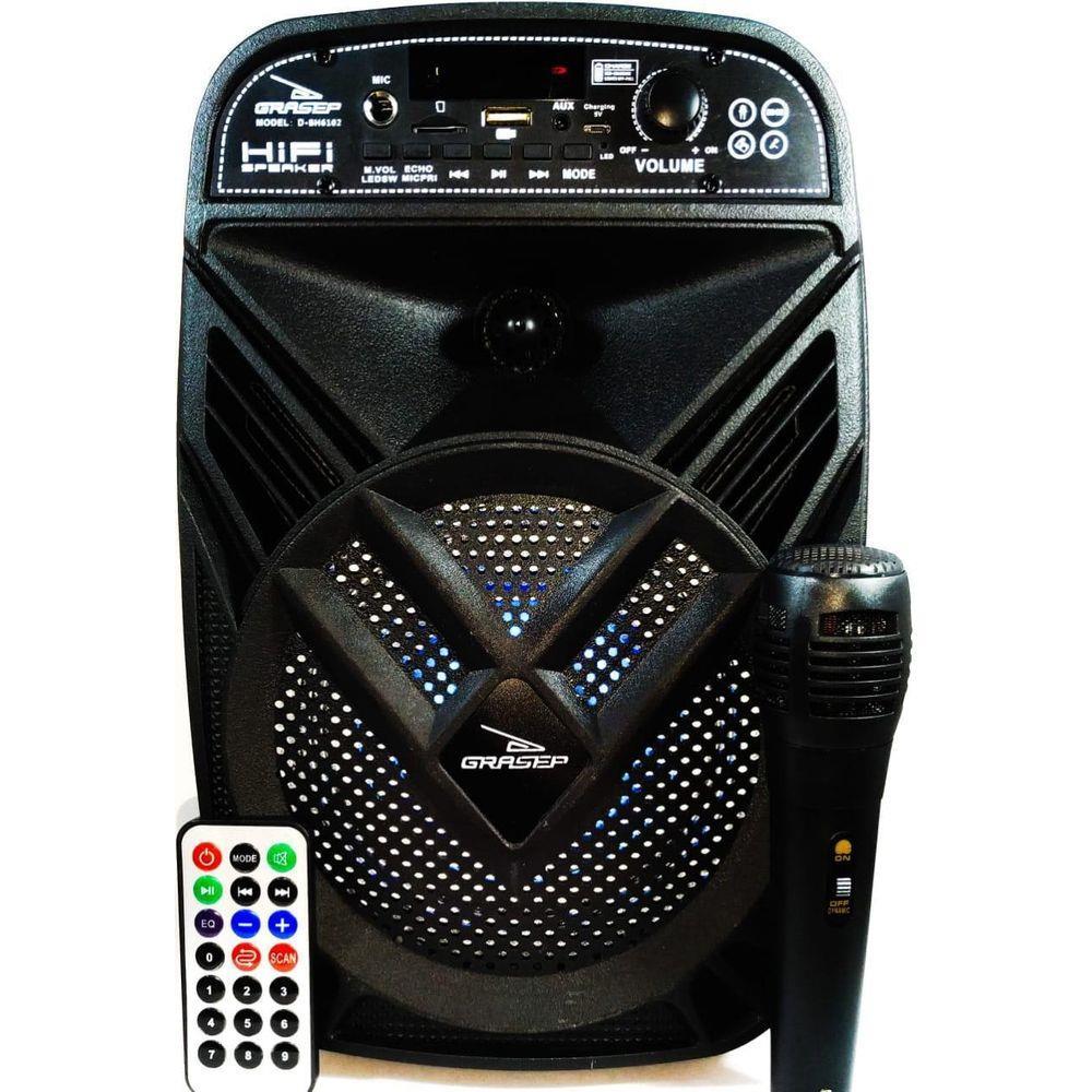 Caixa De Som Amplificada Bluetooth D-Bh6102 Grasep