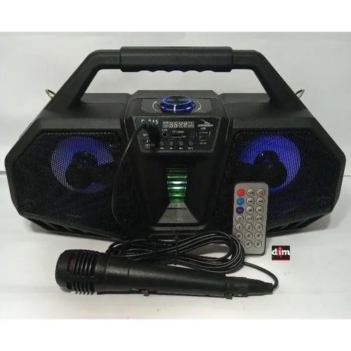 Caixa De Som Bluethoot Com Microfone Fm Usb Sd Grasep D-S15