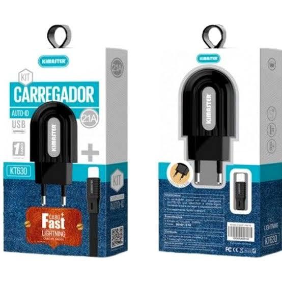 CARREGADOR IPHONE  5/6/7 KIMASTER KT602