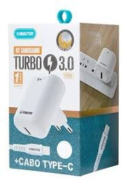 KIT CARREGADOR TURBO CABO TYPE C KT615X
