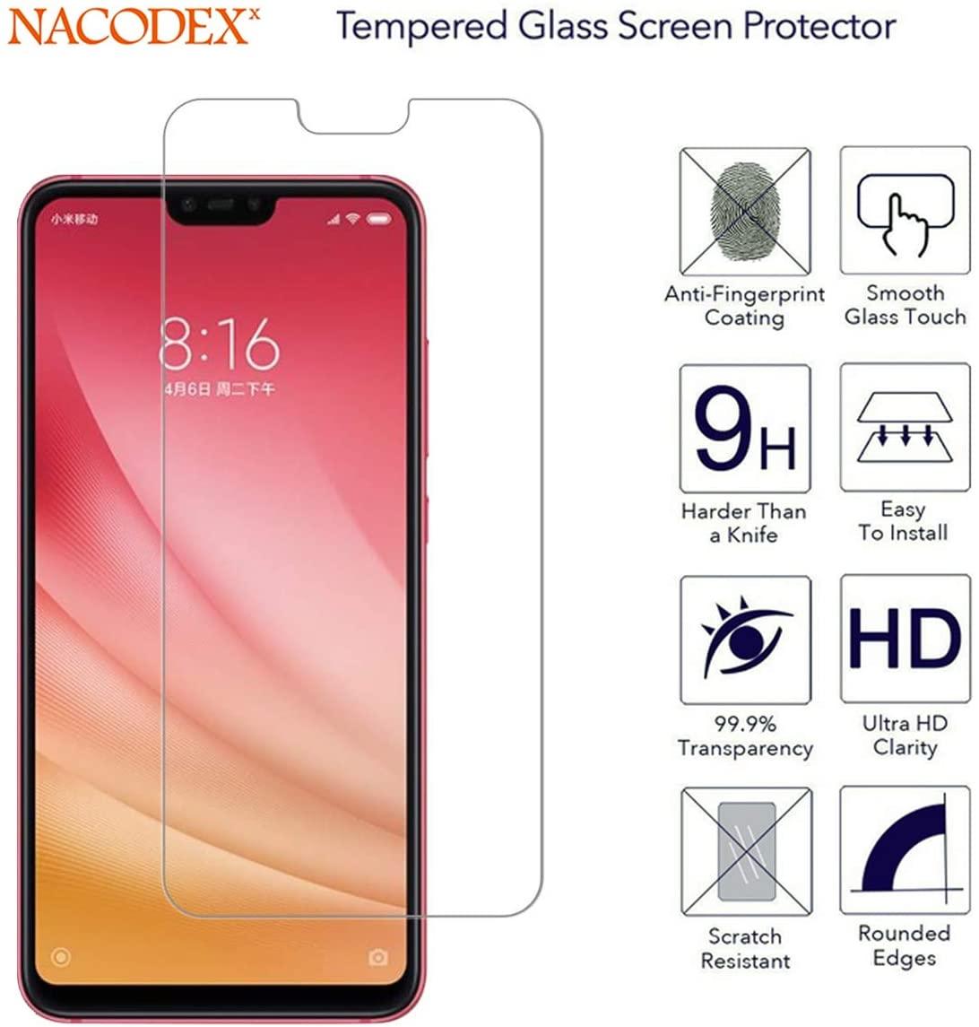 Película Protetora de Vidro Temperado Celular para Xiaomi Mi 8 Lite