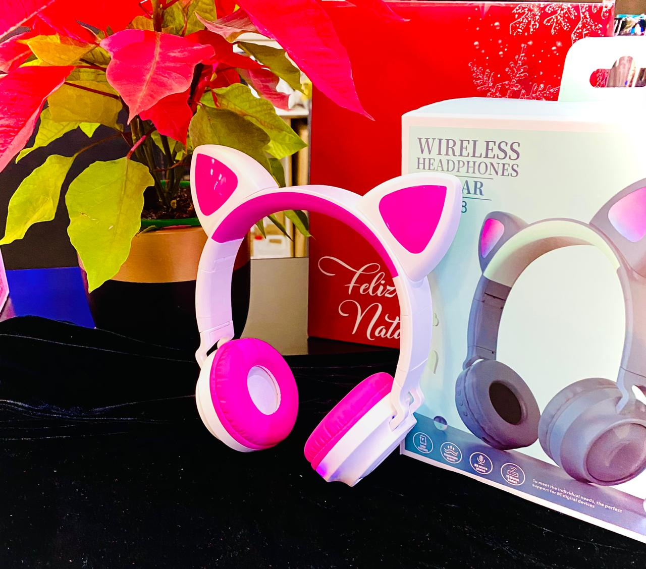 WIRELESS HEADPHONES CAT EAR ZW-028 ORELHAS
