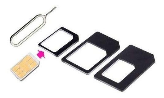Adaptador de Chip Micro Sim E Nano Sim Chave Pin - Noosy Preto
