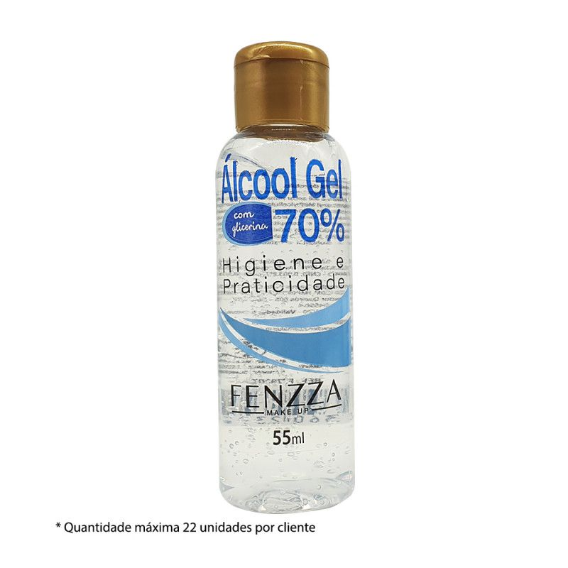 ÁLCOOL GEL 70% 55ML FENZZA FZ79007