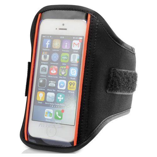 Braçadeira Para Iphone Atrio Em Neoprene Es046 Multilaser Preto