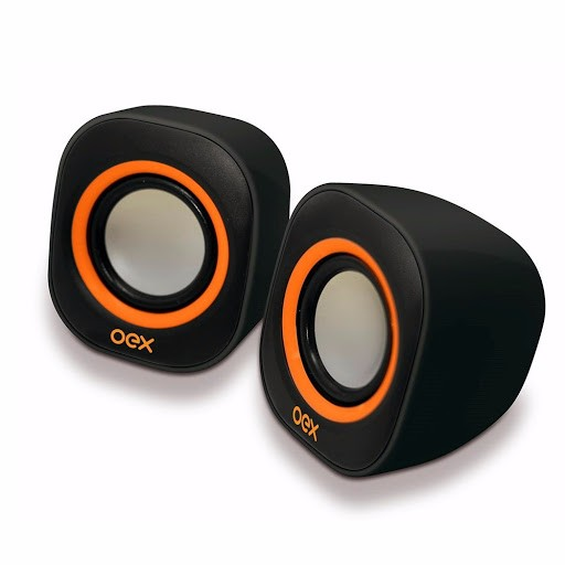 Caixa Acustica Para Computador Speaker Round 8w Usb/p2 Pt/lj Oex Unidade
