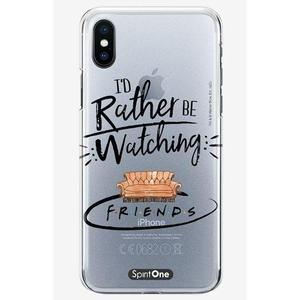 Capinha Friends - I´d Rather Be watching - Transparente - Oficial Warner para Iphone 11 Pro Max