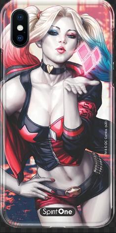 Capinha Harley Quinn - Harley Quinn Kiss - Anti Impacto Oficial Warner