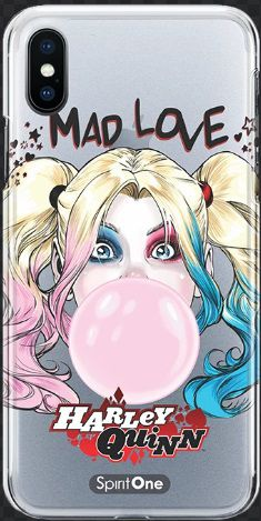 Capinha Harley Quinn Mad Love - Transparente 06 Anti Impacto - Oficial Warner