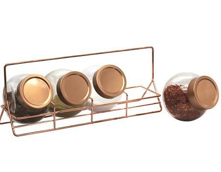 Conjunto de Porta Condimentos de Vidro 210ml -  Casa Ambiente POVI096