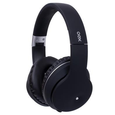 Headphone Bluetooth Oex Spot, Preto - HS313 C/ Case de ziper