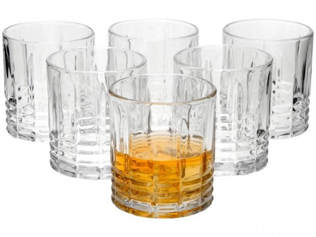 Jogo de Copos de Vidro para Whisky 310ml 12 Peças - Casambiente Elegance