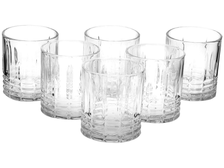 Jogo de Copos de Vidro para Whisky 310ml 6 Peças - Casambiente Elegance
